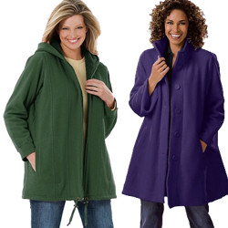 66038ae99d48d Women s Plus Size Fleece Jackets and Coats