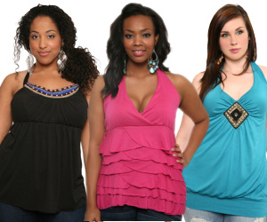 Plus Size Halter Tops