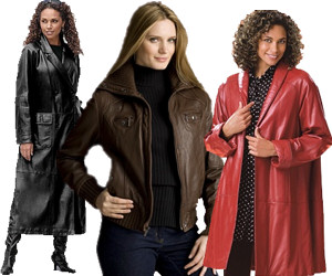 Plus Size Leather Coat