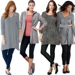 Trendy plus size tunic dresses
