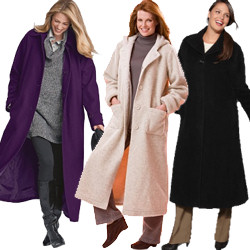 Plus Size Long Coats