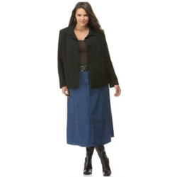 Plus Size Long Denim Skirts