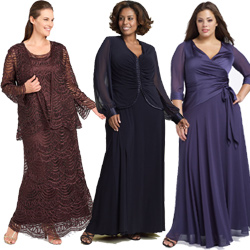 Plus Size Mother of Bride Dresses
