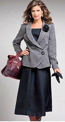Plus Size Skirt Suit