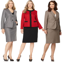 Plus Size Suit Skirts