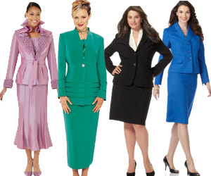 Women's Plus Size Skirt Suits