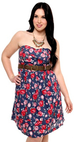 Plus Size Strapless Sundresses