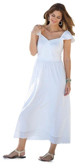 White Plus Size SunDresses