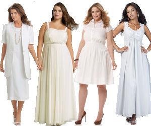 Plus Size White Dresses