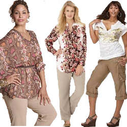 Women's Plus Size Khaki Pants
