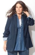 Plus Size Denim Shirts