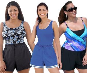 Plus Size Jogger Swimsuit