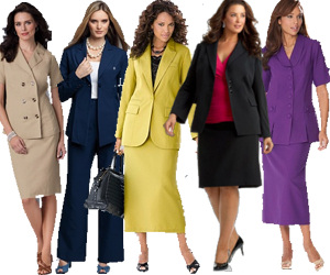 Women's Plus Size Business Suits