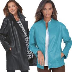 Women's Plus Size Leather Jackets