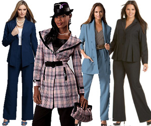 Women's Plus Sized Pant Suits