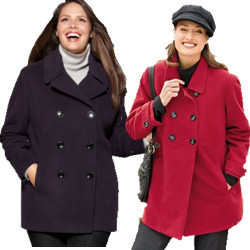 Women's Plus Size Pea Coats