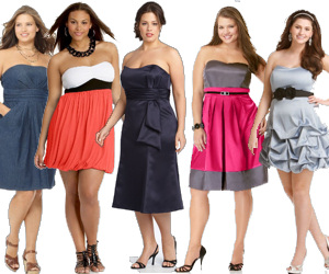 Plus Size Strapless Dresses