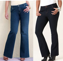 Boot Cut Plus Size Jeans