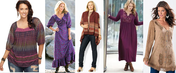 Plus Size Boho Chic Fashion Clothing Dresses Look for Maxi