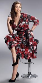 Floral Plus Size Wrap Dress