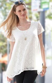 Lace Plus Size Tunic