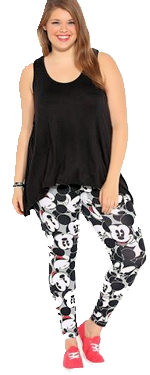 Novelty print plus size leggings