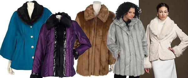Plus Size Faux Fur Coats