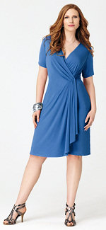 Avenue Coupons - faux wrap dress