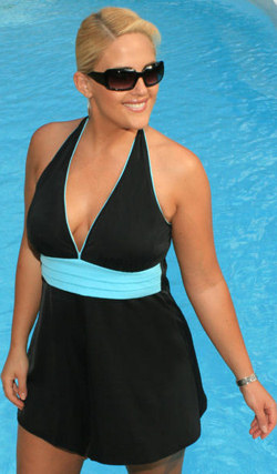 Plus Size Halter Swim Dress
