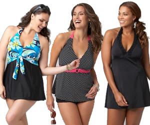 Plus-Size-Halter-Swimsuit