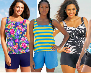 Plus Size Jogger Swimsuits