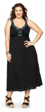 v-neck plus size maxi dress