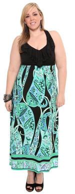 A-line plus size maxi dress