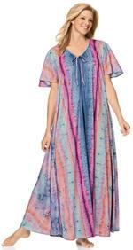Plus Size Caftan Style Maxi Dress