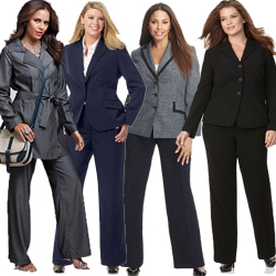 Women's Plus Size Pants Suits