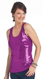 Plus Size Sequined Tops