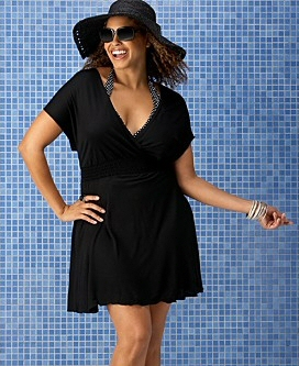 8d7bb3fe2e3 Black Plus Size Swimsuit Coverup