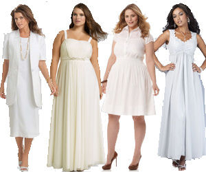 Plus Size White Dress