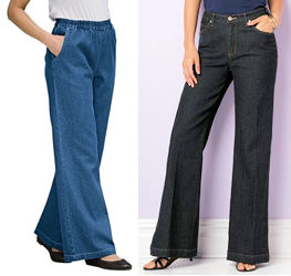 Plus Size Wide Leg Jeans