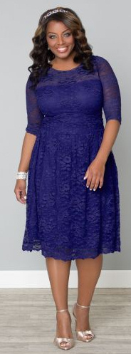 Purple Lace Plus Size Dress
