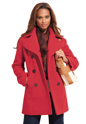 Womens Plus Size Pea Coats