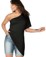 Plus Size One Shoulder Top