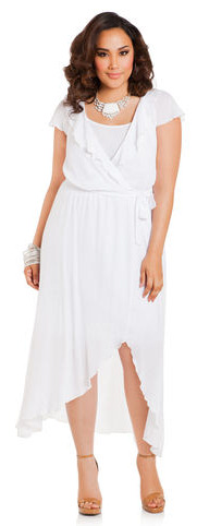 White Plus Size Dress