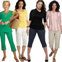 Plus Size Capri Pants and Plus Size Crop Pants