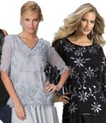 Plus Size Formal Wear Beaded Tops
