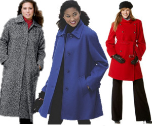 Plus size women's outerwear coats