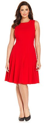 Red Calvin Klein Plus Size Dress