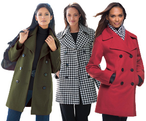Plus Size Pea Coats