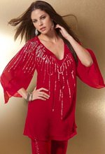 Plus Size Beaded Tunic Top