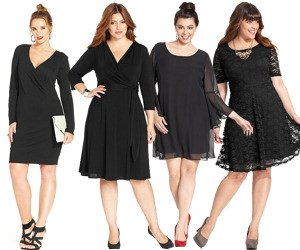Plus Size Black Dresses